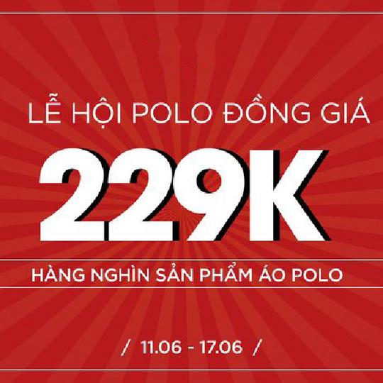 Emspo đồng giá 229k sản phẩm áo Polo