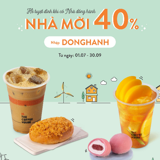 The Coffee House giảm 40% cho đơn hàng từ 4 món