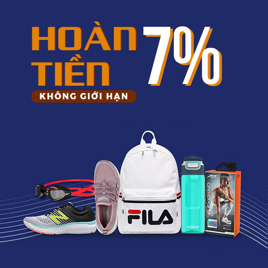 Supersports Vietnam hoàn 7% khi mua sản phẩm Supersports