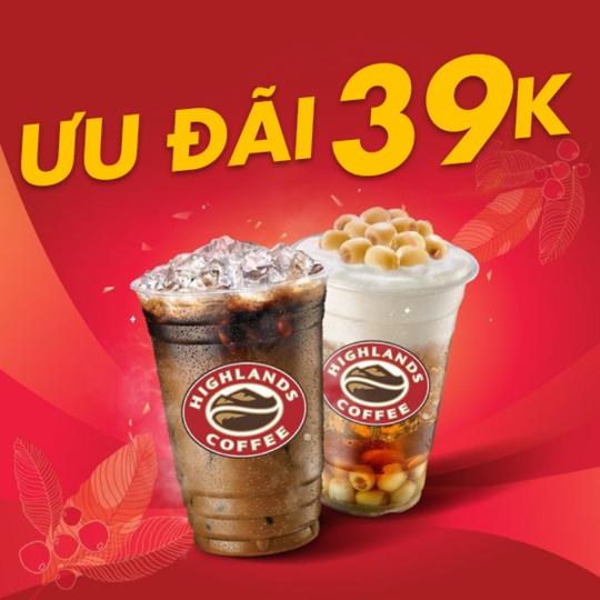 Highlands Coffee giảm 39K khi thanh toán qua ví Momo