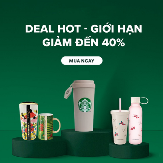 Starbucks Vietnam giảm đến 40% SP cốc&bình khi mua ở Lazada