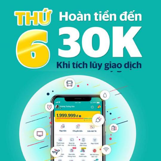 SmartPay hoàn tiền đến 30k khi tích luỹ giao dịch