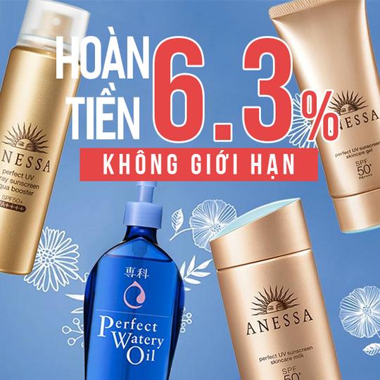 Anessa hoàn tiền đến 6.3% khi sản phẩm Anessa