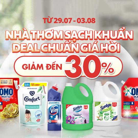 Big C ưu đãi đến 30% các sản phẩm Unilever
