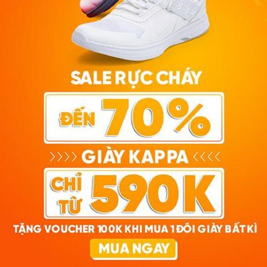 Hoàng Phúc Khuyến mãi đến 70% giày Kappa