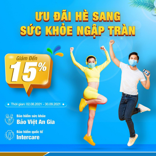 Bảo Việt  ưu đãi đến 15% bảo hiểm sức khoẻ