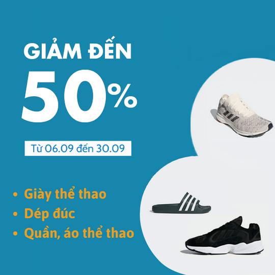 Shop Vnexpress giảm đến 50% các sản phẩm Adidas