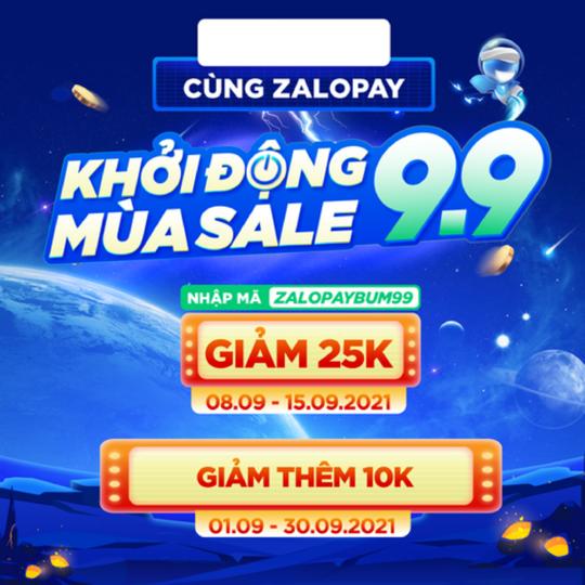 Tiki giảm thêm 10k khi thanh toán qua ZaloPay