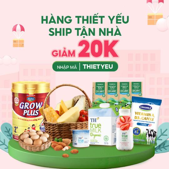 Shopee Food giảm 20k cho đơn hàng thiết yếu