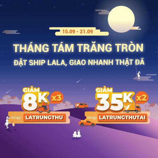 Lalamove giảm đến 35k cho các đơn tại Hà Nội