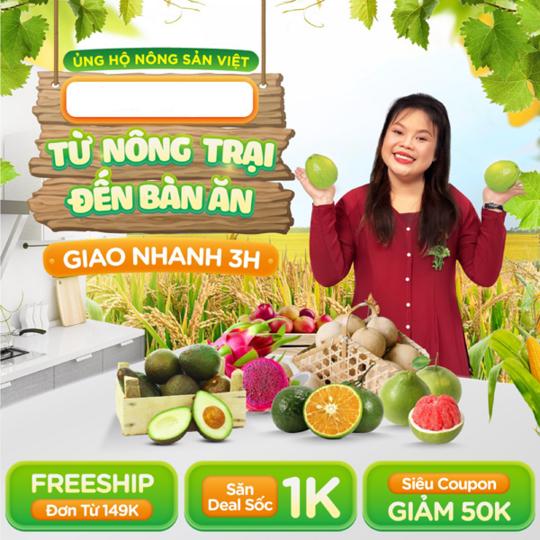 Tiki ưu đãi 1K cho nông sản Việt tại Tikingon