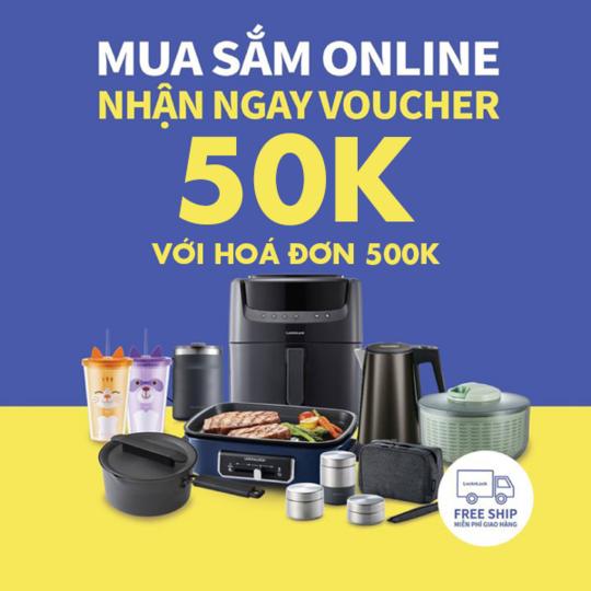 LOCK&LOCK tặng E-voucher với hóa đơn 500k