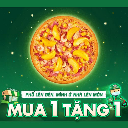 The Pizza Company ưu đãi mua 1 tặng 1 vào thứ 3, thứ 4