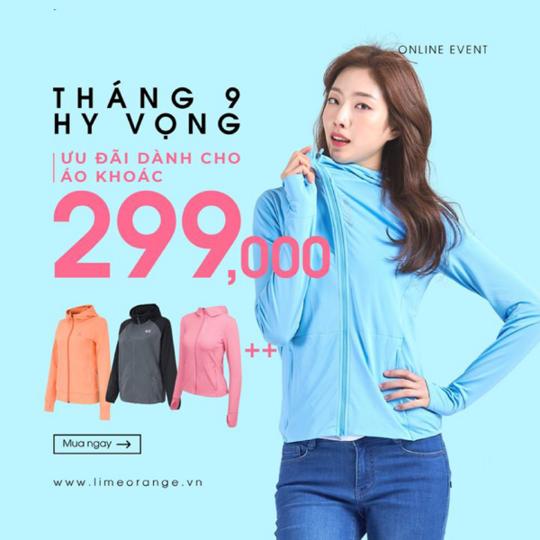 Lime Orange ưu đãi đồng giá áo khoác từ 299k