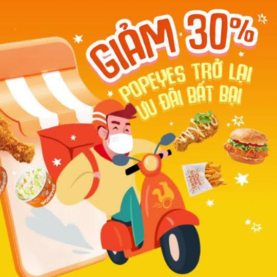 Popeyes ưu đãi tới 30% cho các món lẻ