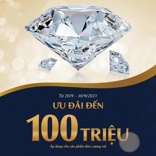 PNJ  ưu đãi đến 100 triệu khi mua kim cương