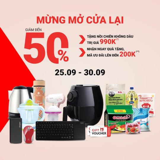 Nguyễn Kim ưu đãi đến 50% nhiều sản phẩm
