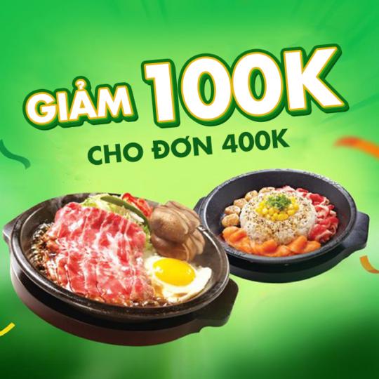 Pepper Lunch Vietnam ưu đãi đến 100k khi đặt tại app Grabfood