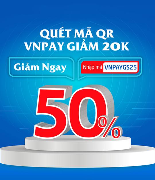 GS25 giảm 20K khi thanh toán qua VNPAY
