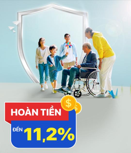 Bảo Việt  hoàn tiền đến 11.2% khi mua BH Bảo Việt