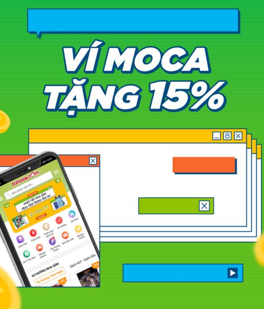 FAHASA giảm 15% khi thanh toán qua ví Moca