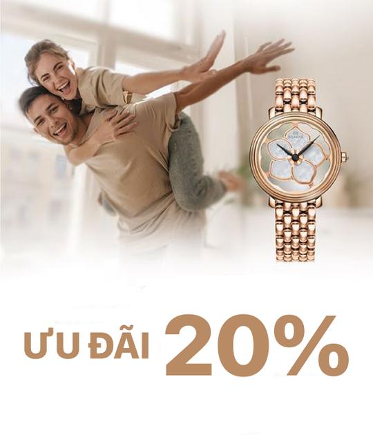 PNJ Watch ưu đãi đến 20% các sản phẩm đồng hồ