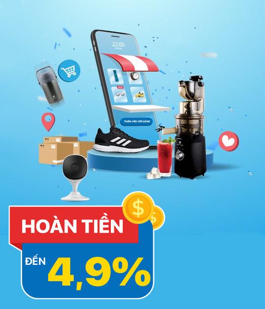 Shop Vnexpress hoàn tiền lên đến 4.9% khi mua sắm