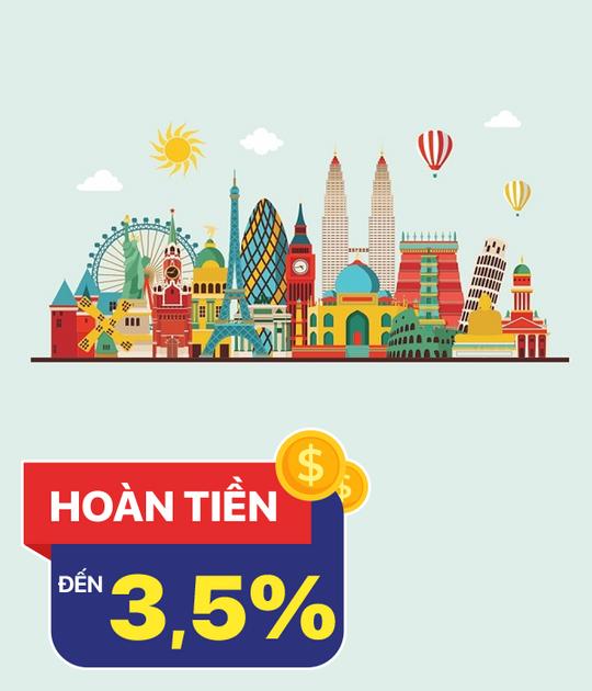 Agoda hoàn tiền 3.5% trên tổng giá trị booking