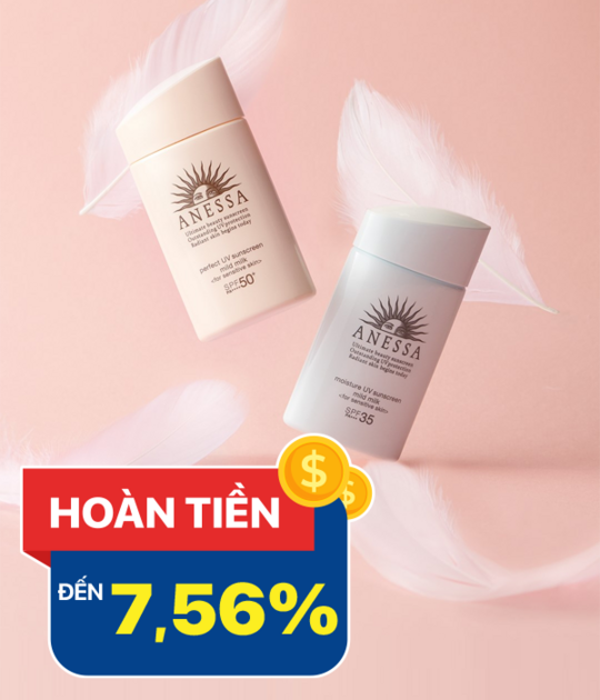Anessa hoàn tiền 7.56% khi sản phẩm Anessa