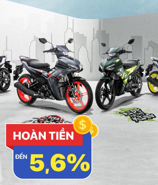 Yamaha hoàn tiền lên đến 5.6% khi mua xe máy