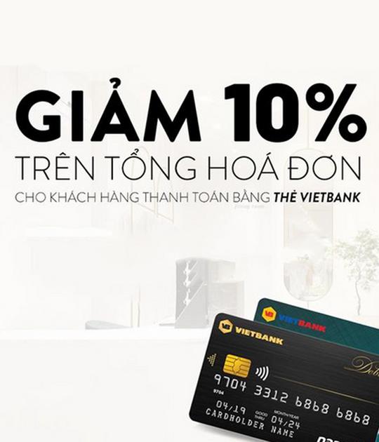 MARC khuyến mãi 10% cho chủ thẻ Vietbank
