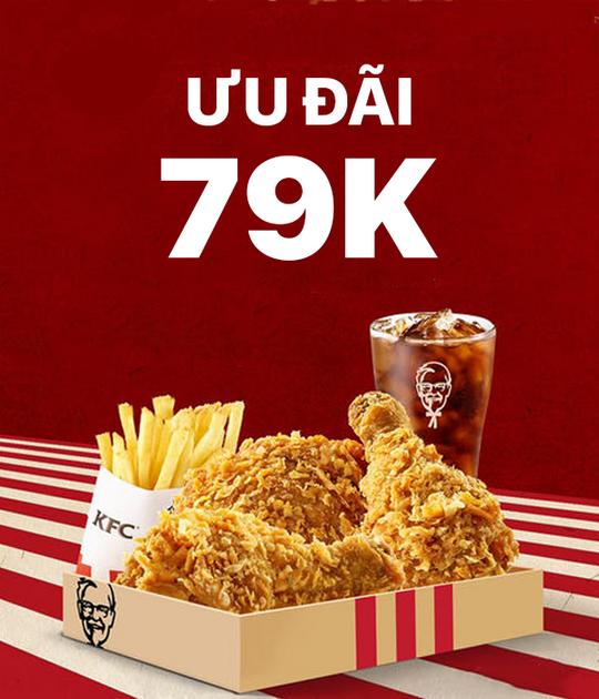 KFC ưu đãi Combo gà rán giá 79k