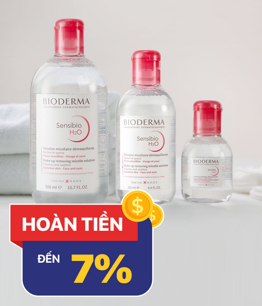 BIODERMA hoàn tiền khi mua sản phẩm Bioderma