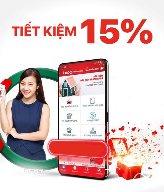 Bảo Hiểm BIC giảm 15% khi mua BIC Tâm An qua app