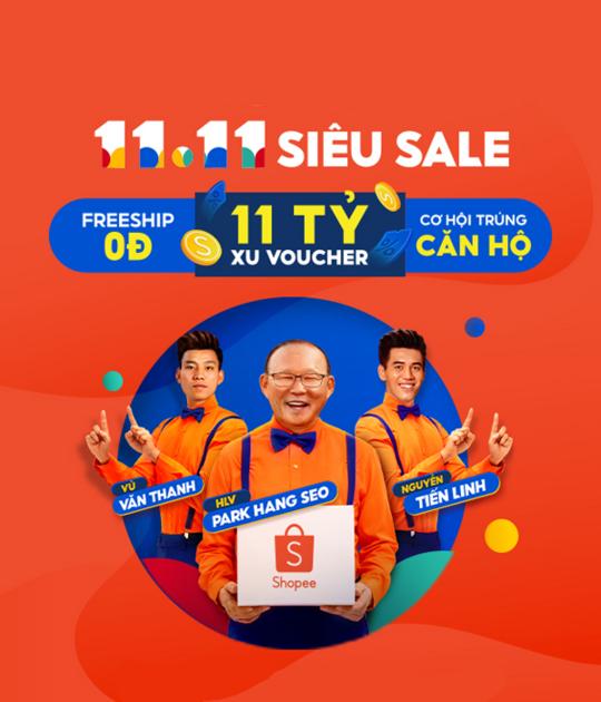 Shopee 11.11 Siêu Sale Hàng Hiệu