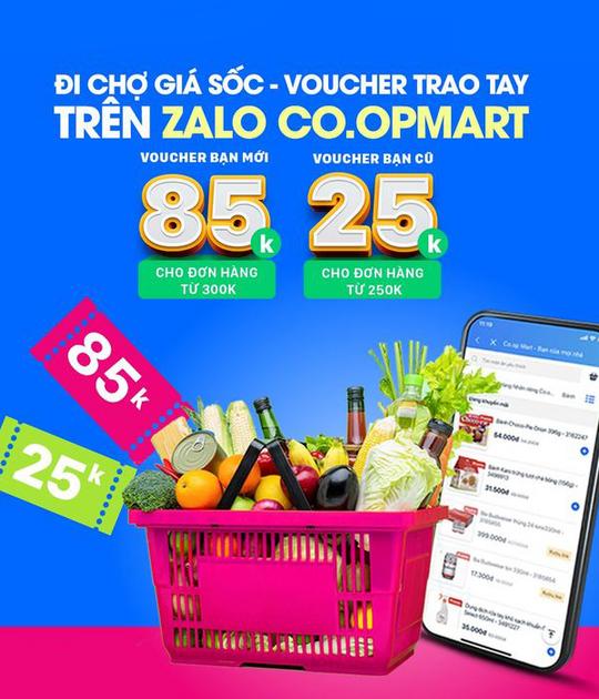 Coopmart ưu đãi đến 85k khi thanh toán qua ZaloPay