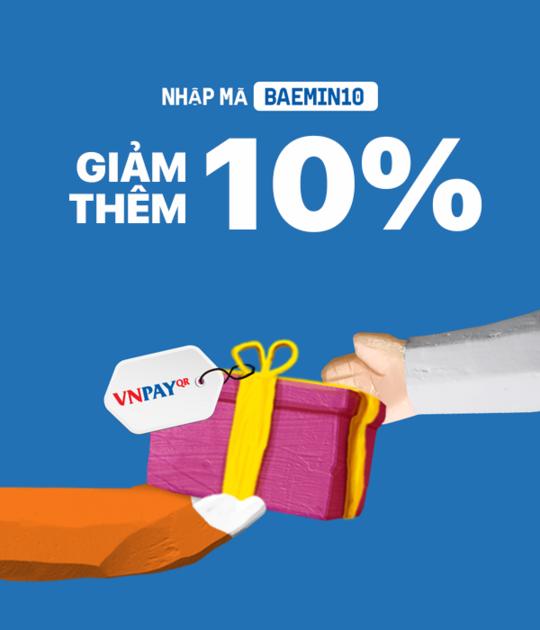 BAEMIN giảm thêm 10k khi than toán qua VNPAY-QR