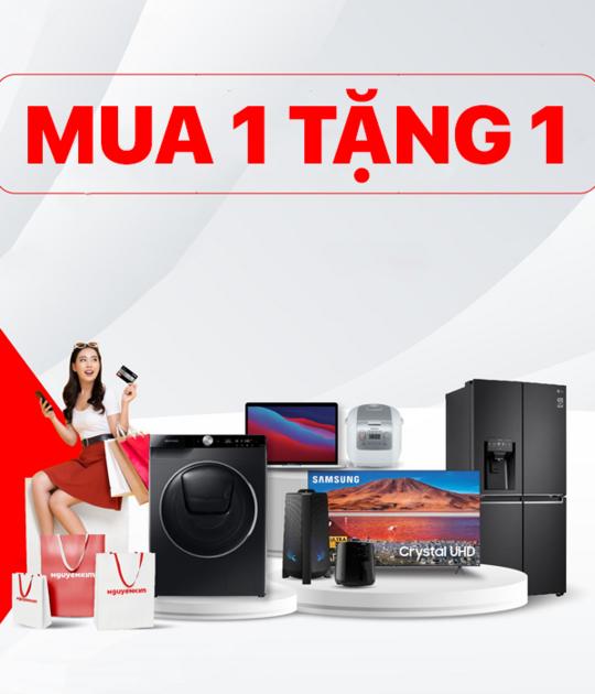 Nguyễn Kim ưu đãi mua 1 tặng 1 với nhiều sản phẩm