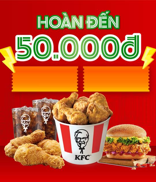KFC hoàn đến 50k khi thanh toán qua Moca