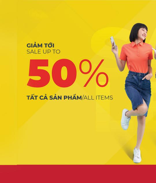 Canifa khuyến mãi tới 50% tất cả sản phẩm